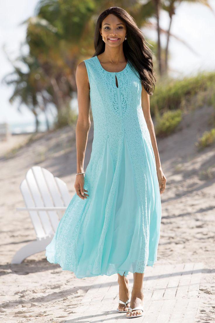 A-line style maxi dress