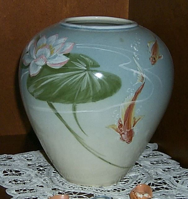 Decorated Fishing Urn 71 Best Motifs Of The Revival  Koi Carp  Fish Images On