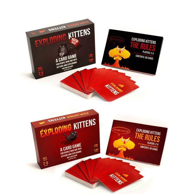 HOT Explosão Gatinhos Jogo de Tabuleiro Do Partido do Divertimento Da Família Jogo de Cartas de Jogar Melhor Presente Para O Amigo