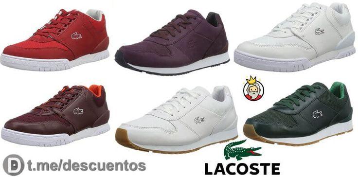 ¡Rebajas! Desde Amazon Francia es posible conseguir en oferta estas Zapatillas Lacoste a sólo 38€. Normalmente estarían a 65€.