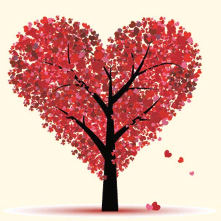 Tarjeta Imprimible Para San Valentín Decorada Con Un árbol. Http://www.