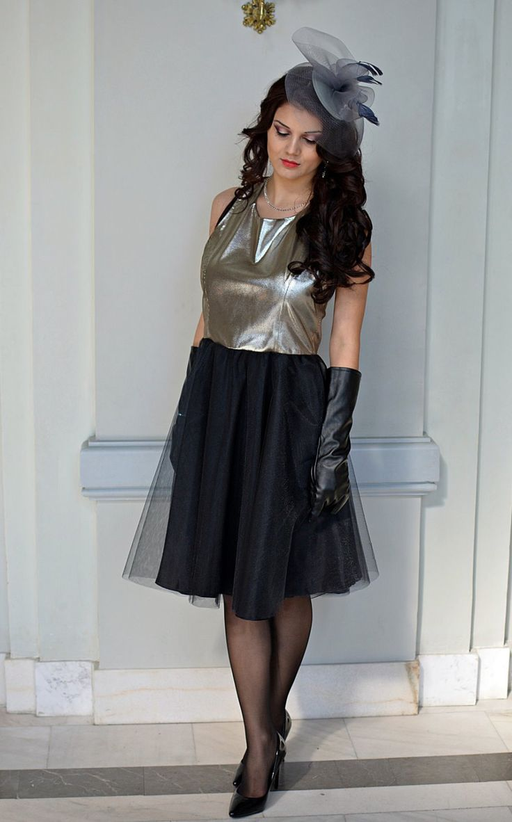 Silver Leather Dress by DSTcraft on Etsy