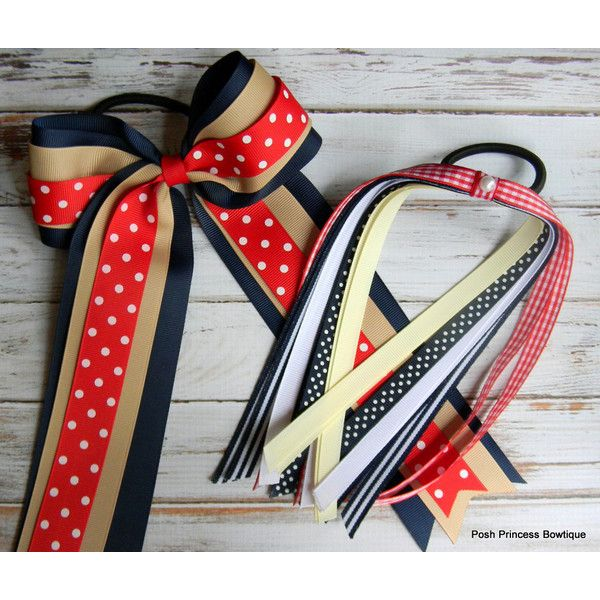 School Hair Bows Set School Uniform Hair Bows Cheer Bow Pony Tail... ($16) ❤ liked on Polyvore featuring accessories, hair accessories, barrettes & clips, grey, red hair clip, red bow hair accessories, white hair clips, red hair accessories and red hair bow