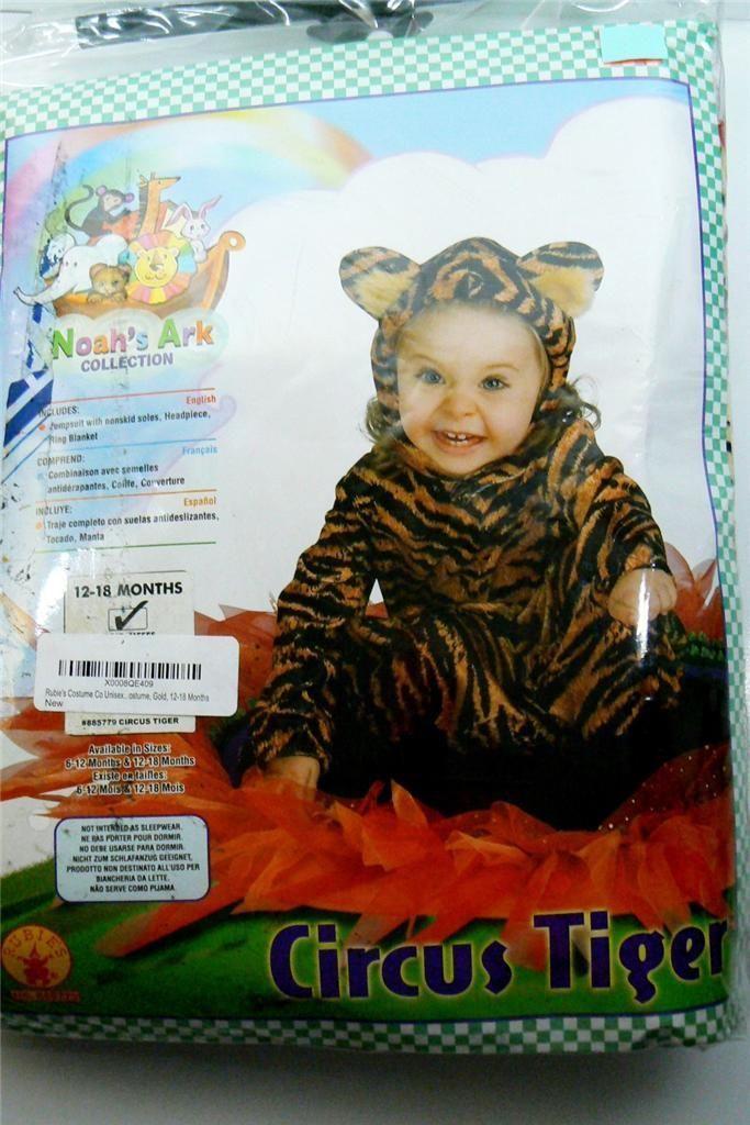 Rubie's Noah's Ark Tiger Halloween Costume Babies 12 18 mos 3 Pcs Free SHIP | eBay