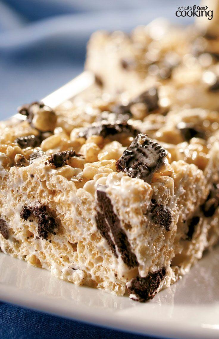 Cookies 'n Cream Crispy Treats #recipe
