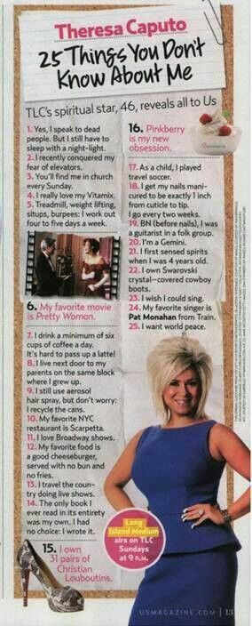 25 fun facts about Theresa Caputo (Long Island Medium)