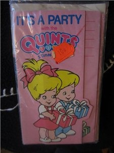 $12.00      Vintage TYCO 1990 QUINTS 5 TIMES THE FUN Party Invitations Unique MIP -8-