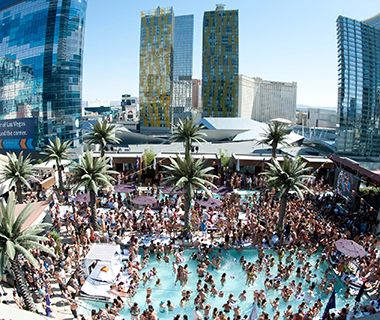 Marquee Dayclub, The Cosmopolitan of Las Vegas When to Go: Saturdays for Wet Wonderland, a party by Insomniac; and Summer Lovin' dates by Kaskade. Admission: $20, but varies according to the event. Open to Non-Hotel Guests? Yes. Family Friendly? Adults 21 and over only; European bathing permitted Monday–Thursday.