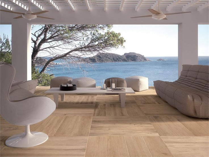Porcelain stoneware wall/floor tiles with #wood effect LARIX by Ariana Ceramica Italiana #outdoor #sea