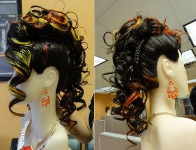 Marlena Orowska, a student at Empire Beauty School in Queens, NY, created this detailed Faux Hawk.  #Fauxhawk