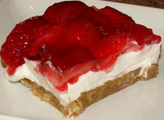 No Bake Strawberry Cheesecake, requires stovetop for strawberry topping