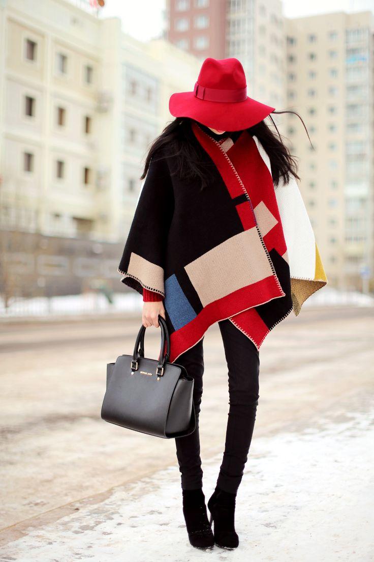 Aibina of Aibinas Blog with Michael Kors Selma bag. December 2014