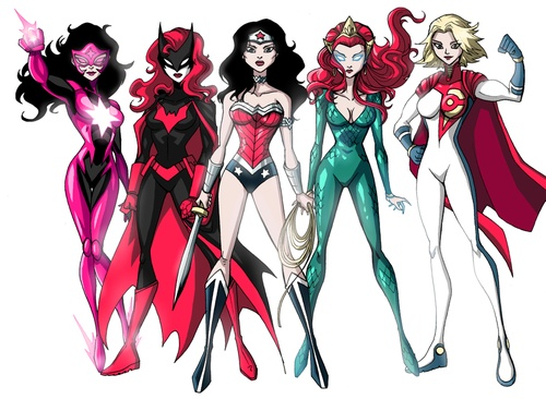 The Women Of Dc Comics Ink In Adam Withers S Dc Comics: 306 Best Images About Marvel/DC Women On Pinterest