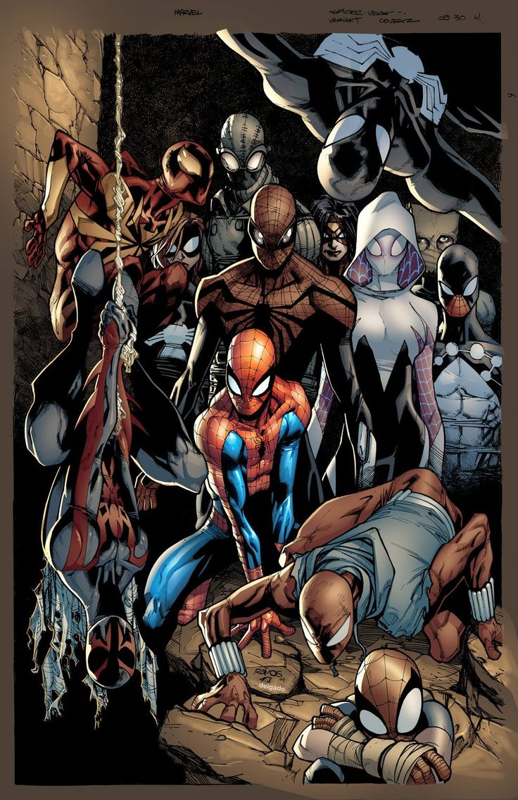 Spider-Verse Mexican variant cover by Humberto Ramos, colours by Edgar Delgado *