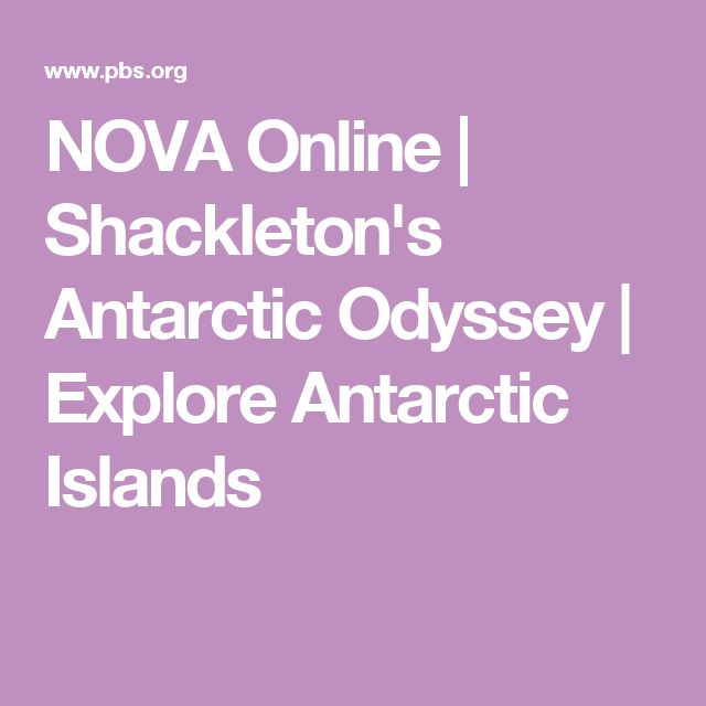 NOVA Online | Shackleton's Antarctic Odyssey | Explore Antarctic Islands