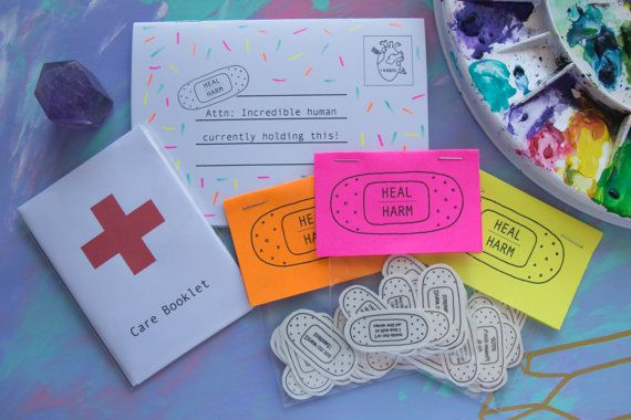 Hey, I found this really awesome Etsy listing at https://www.etsy.com/au/listing/250154673/heal-over-harm-self-harm-care-pack-self