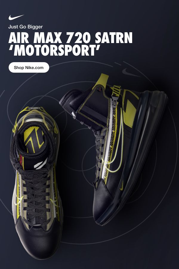 8af3b7186ea0d Air Max 720 Satrn  Motorsport . Cushioning that looks as good as it feels.  Go bigger on Nike.com.