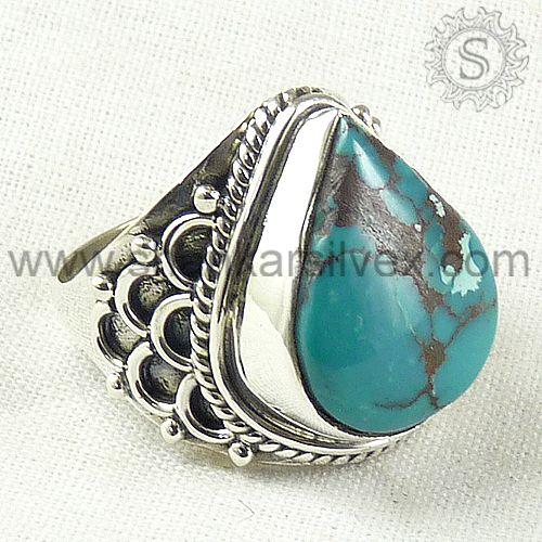 Turquoise Gemstone Silver Ring.