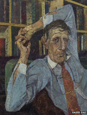 portrait of Jonathan Miller, by Saied Dai winner of royal soc of portrait painters, 2014