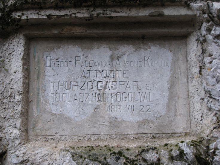 Olasz-kapu áttörés (Thurzó Gáspár) emléktábla (Szilvásvárad közelében 5 km) http://www.turabazis.hu/latnivalok_ismerteto_4965 #latnivalo #szilvasvarad #turabazis #hungary #magyarorszag #travel #tura #turista #kirandulas