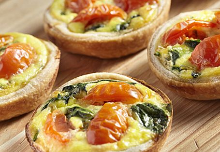 ALDI US - Bacon, Spinach and Tomato Mini Quiches  (we can make these in a healthier version)