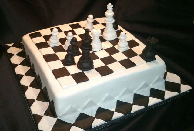 Chess Board Game Designer Cake