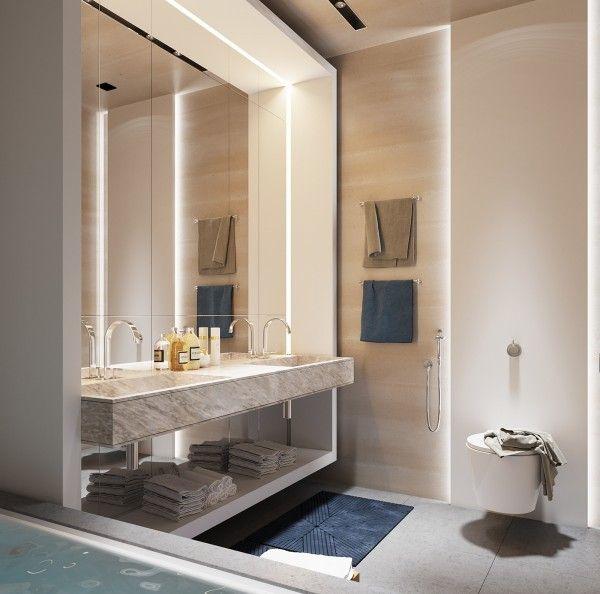 Jasna łazienka - styl męski