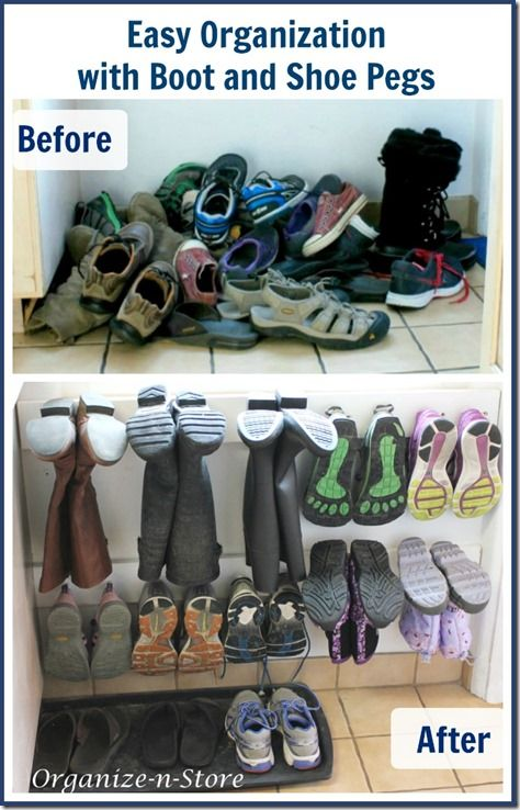 Step 3: Select Your Organizers - On The Closet Floor. If you're storing your shoes in your closet you have several options depending on your space. And for most people, a combination of shoe storage solutions works best. Tiered shoe racks and shoe cubbies can often be stacked to make use of the vertical space beneath hanging clothes. These open solutions work well for shoes that you often wear.
