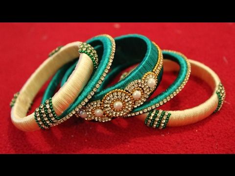 Latest silk thread bangle making at home I Easy and Simple bangles - YouTube