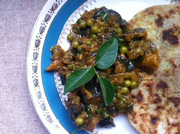 Aubergine and pea curry    Meera Sodha