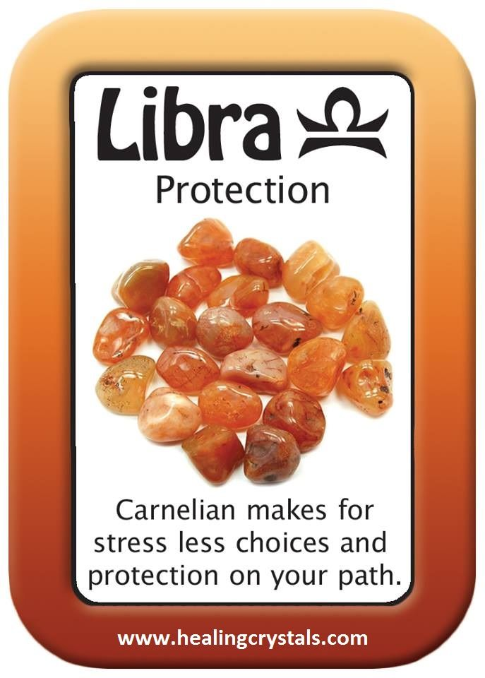 HEALING CARD FOR PROTECTION: LIBRA.   Carnelian makes for stress less choices and protection on your path  http://www.healingcrystals.com/advanced_search_result.php?dropdown=Search+Products...&keywords=Carnelian  Don't forget code HCPIN10 to receive a 10% discount on your purchase.