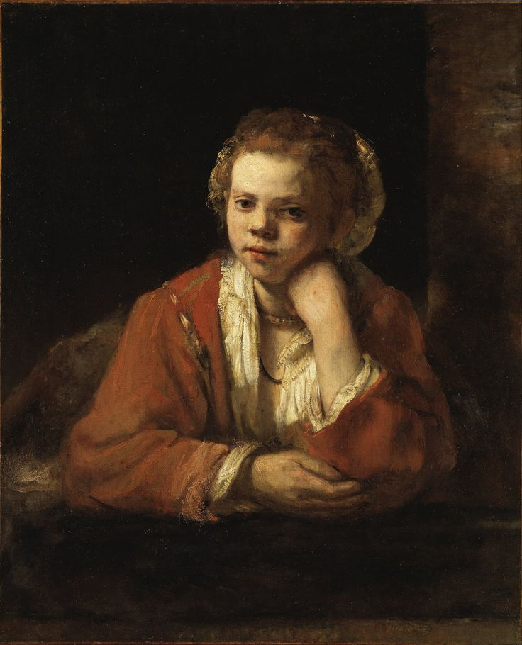 Rembrandt -Girl at a window, 1651