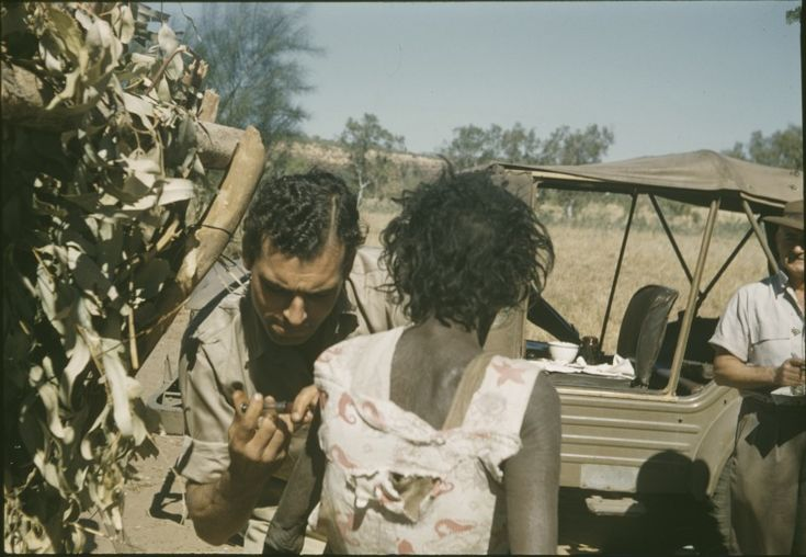 300504PD: A medical officer from Wyndham gives a polio injection at Forrest River Mission, 1958-1959. http://encore.slwa.wa.gov.au/iii/encore/record/C__Rb4726231__Sa%20medical%20officer%20from%20wyndham__Orightresult__U__X6?lang=eng&suite=def