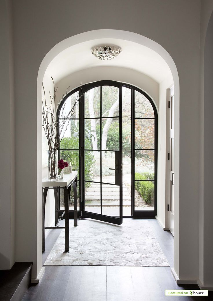 Sugar Creek | Ryan Street & Associates Love the arch way entrance and the glass front door.