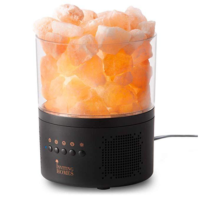 amazon: inviting homes himalayan salt lamp bluetooth speaker - high sound quality - enhanced