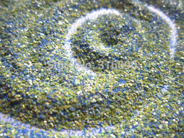 Матовый шестигранни синий и желтый блеск смесь устойчивы к воздействию растворителей смесь для лак для ногтей Frankening скрапбукинг