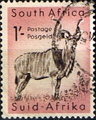 South Africa 1959 Wild Animals SG 175 Kudu Fine Used SG 175 Scott 226 Condition Fine Used Only one post charge applied on multipule
