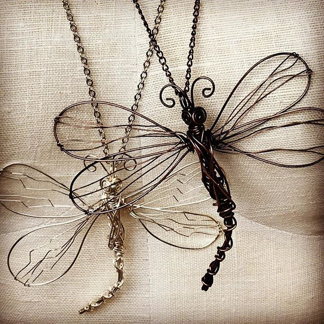 Off to the Kingston Women's Art Festival on Sunday with a new flock of these pretty Dragonfly necklaces. Do you know that $2 from each necklace sold goes to Brain Tumour Research? Yep. Sure does. So you're supporting this small business and a great cause. See you Sunday. @dragonflydesignstudio #kingston #kingstonwomensartfestival #goalsforlily #braintumourresearch
