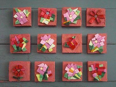 IN ARTE HASHIMOTO: Piccoli fiori.  Check out more of our mosaic work here: inartehashimoto.blogspot.com