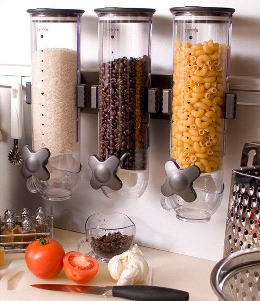 Un dispensador de comida. Puedes poner los cereales, la pasta, arroz... ¡lo que tu quieras! | #gadgets #cocina #paratorpes