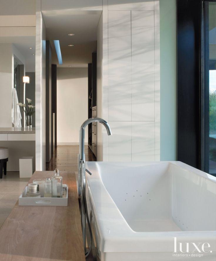White and Brown Modern Bathroom