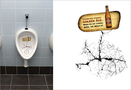 strong beer advertisement altought break the toilet