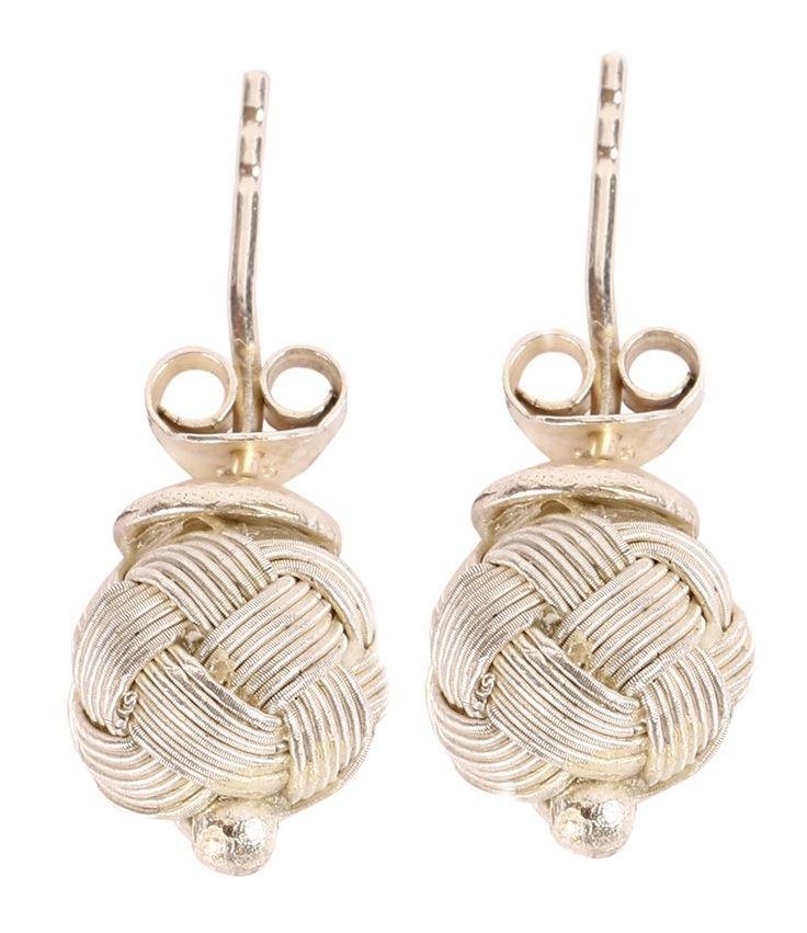 Kazaziye Silver Stud Earrings