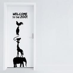 The Zoo - Adesivo da parete Vinyl Wall Stickers Decals - Door Sticker