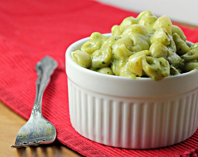 avocado mac and cheese. (UPDATE: SO GOOD! I added an extra avocado and used a whole 16oz. bag of pasta, then bakes it for a bit with some panko on top. It was event better for lunch the next day.)