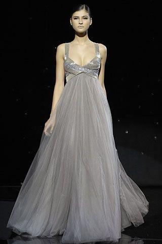 ellie saab - grey wedding gown