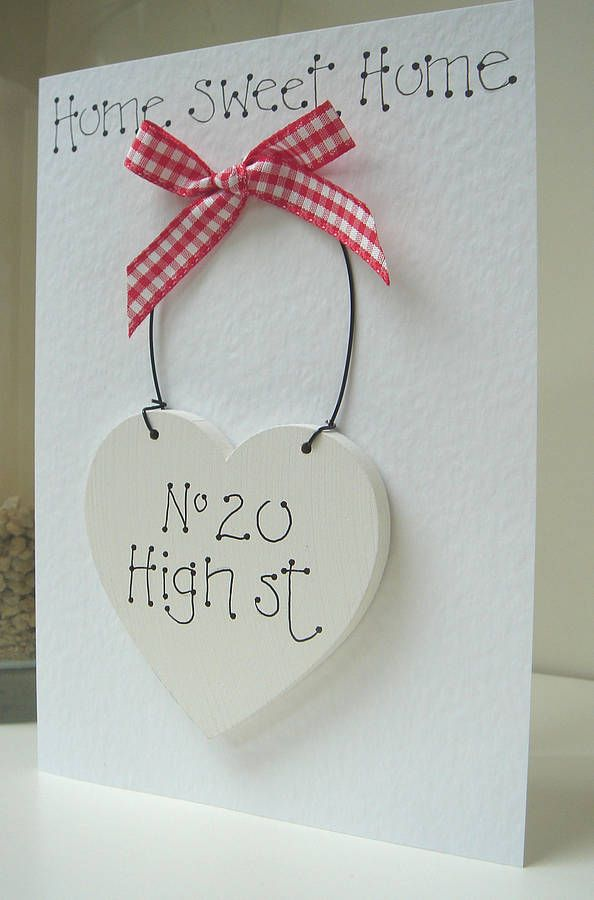 Personalised New Home Card from notonthehighstreet.com