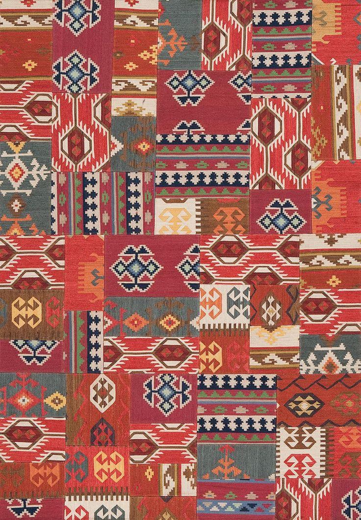 tapis kilim patchwork rouge orange et violet 170x240cm. Black Bedroom Furniture Sets. Home Design Ideas