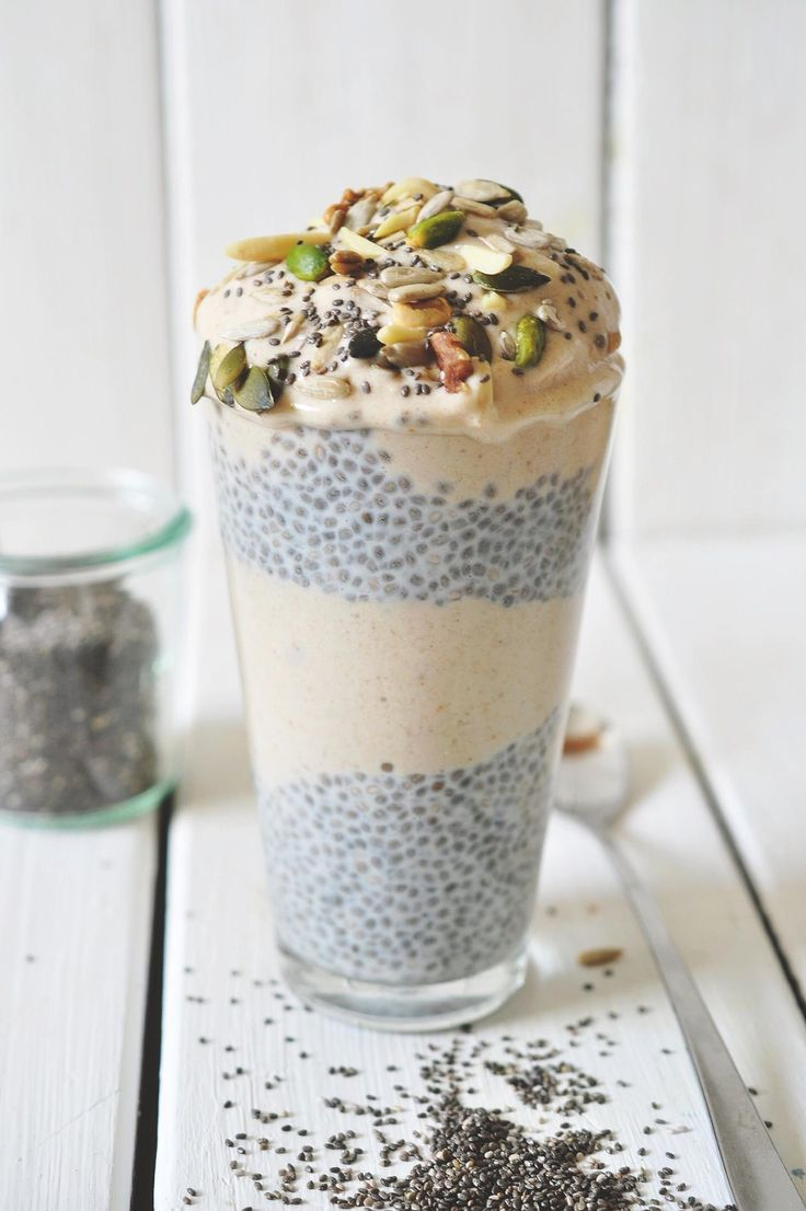 chia pudding with nana-cinnamon icecream THERE ARE SO MANY GOOD RECIPES ON HERE