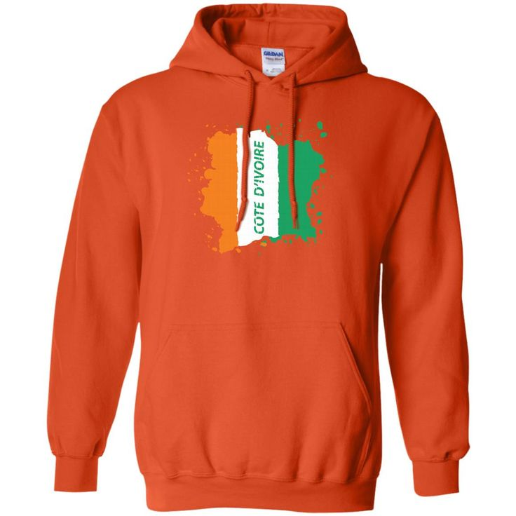 Ivory Coast Coat Of Arms T Shirt National Cote d'Ivoire-01 G185 Gildan Pullover Hoodie 8 oz.